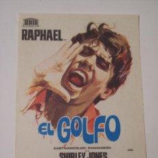 Cine: EL GOLFO (RAPHAEL / SHIRLEY JONES). Lote 23173028