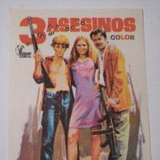 Cine: 3 ASESINOS ( ROBERT WALKER / DIANE VARSI / DICK CLARK). Lote 25718826
