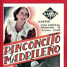 Cine: RINCONCITO MADRILEÑO , DOBLE , S1827. Lote 25606712