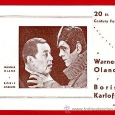 Folhetos de mão de filmes antigos de cinema: CHARLIE CHAN EN LA OPERA , BORIS KARLOFF , DOBLE , S1832. Lote 22706135