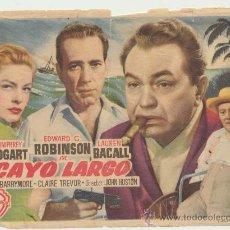 Cine: CAYO LARGO. SENCILLO DE WB.. Lote 22738229