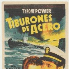 Cine: TIBURONES DE ACERO. SOLIGÓ. SENCILLO DE 20TH CENTURY FOX. GUTIERREZ DE ALBA - ALCALÁ .. Lote 22739123