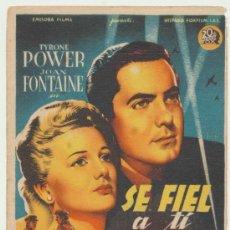 Cine: SÉ FIEL A TI MISMO. SOLIGO. SENCILLO DE 20TH CENTURY FOX. COLISEO ESPAÑA - SEVILLA.. Lote 22748272