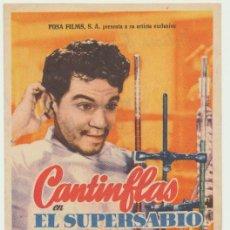 Cine: EL SUPERSABIO. SENCILLO DE COLUMBIA. SALÓN GUTIERREZ DE ALBA - ALCALÁ DE GUADAIRA.. Lote 22749108