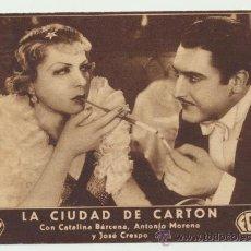 Cine: LA CIUDAD DE CARTÓN. TARJETA DE FOX. CINE MUNICIPAL. ENERO 1935.. Lote 22752046