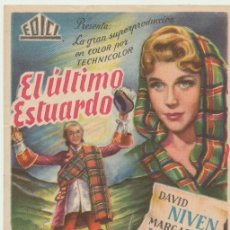 Cine: EL ÚLTIMO ESTUARDO. SENCILLO DE EDICI.. Lote 22761537