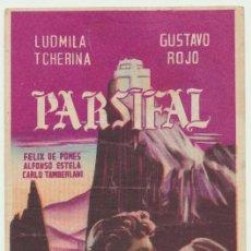 Cine: PARSIFAL.SENCILLO DE CAPITOLIO. GUTIERREZ DE ALBA - ALCALÁ DE GUADAIRA.. Lote 22763089