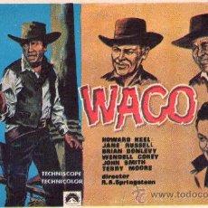 Cine: 554- FOLLETO DE MANO: WACO. Lote 22833689