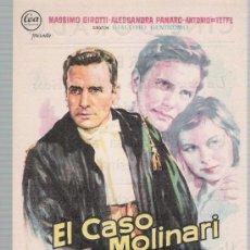 Cine: EL CASO MOLINARI. SENCILLO DE CEA. CINE DORADO - ZARAGOZA. 1959. ¡IMPECABLE!. Lote 22919508