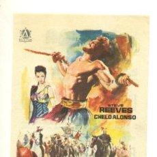 Cine: TERROR DE LOS BARBAROS - PROGRAMA ORIGINAL CON PUBLICIDAD - IMPECABLE. Lote 26625917