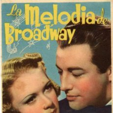 Cine: ROBERT TAYLOR - LA MELODIA DE BROADWAY - ELEANOR POWELL - NO CARTULINA - MGM - DORSO SELLO CINE. Lote 22925133