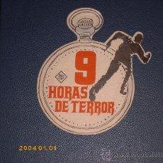 Cine: 9 HORAS DE TERROR, EL ASESINATO DE GANDY, TROQUELADO FORMA RELOJ, ESTA PERFECTO.. Lote 25997985