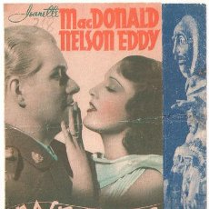 Cine: ROSE MARIE PROGRAMA DOBLE MGM JEANETTE MACDONALD NELSON EDDY JAMES STEWART DAVID NIVEN. Lote 22998538