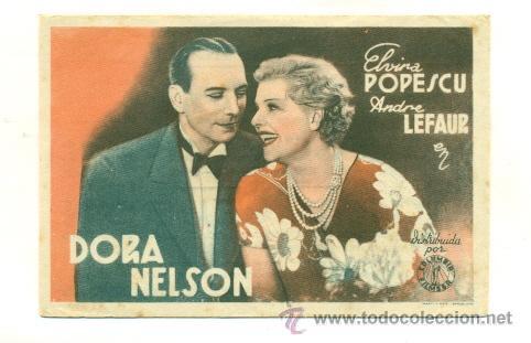 DORA NELSON - PROGRAMA ORIGINAL CON PUBLICIDAD - (Cine - Folletos de Mano)