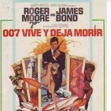 Cine: 007 VIVE Y DEJA MORIR. Lote 23010959