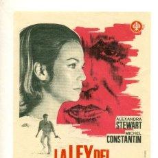 Cine: LA LEY DEL SUPERVIVIENTE - PROGRAMA ORIGINAL SIN PUBLICIDAD - ¡ IMPECABLE !. Lote 23109534