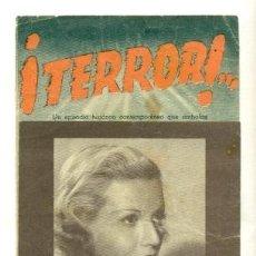 Cine: TERROR - CON LAURA SOLARI - PROGRAMA ORIGINAL SIN PUBLICIDAD -. Lote 23110771