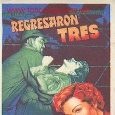 Cine: REGRESARON TRES. Lote 24388027