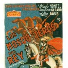 Cine: MOSQUETEROS DEL REY - PROGRAMA ORIGINAL SIN PUBLICIDAD -. Lote 27158772