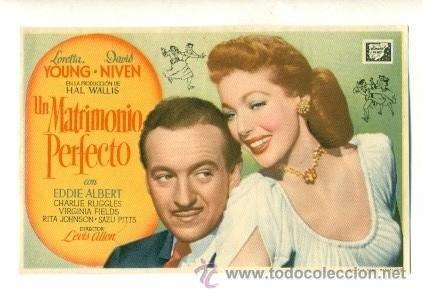 MATRIMONIO PERFECTO - PROGRAMA ORIGINAL SIN PUBLICIDAD - (Cine - Folletos de Mano - Comedia)