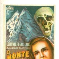 Cine: MONTE DE LOS MUERTOS, EL - PROGRAMA ORIGINAL SIN PUBLICIDAD - ! IMPECABLE ¡. Lote 27158774