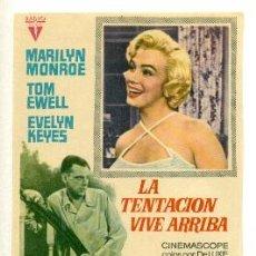 Cinéma: TENTACION VIVE ARRIBA - PROGRAMA ORIGINAL SIN PUBLICIDAD - ! IMPECABLE ¡. Lote 27240768