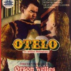 Cine: PROGRAMA CINE DOBLE - OTELO - SUZANNE CLOUTIER MICHAEL MAC LIAMMOIR - CINE ESPAÑA - CABEZA DEL BUEY. Lote 23240795