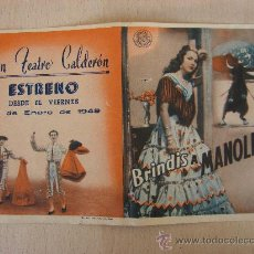 Cine: PROGRAMA DE CUNE ANTIGUO. BRINDIS A MANOLETE. 1949. Lote 26237839