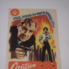 Cine: CAUTIVO DEL TERROR (PAUL DOUGLAS / RUTH ROMAN). Lote 23565748