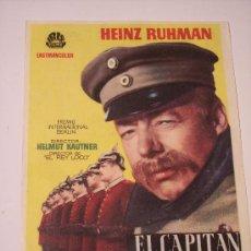 Cine: EL CAPITAN KOPENICK (HEINZ RUHMAN). Lote 23575042