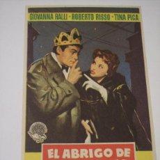 Cine: EL ABRIGO DE VISON (GIOVANNA RALLI / ROBERTO RISSO / TINA PICA). Lote 23575507