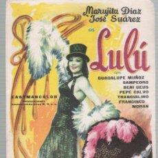 Cine: LULÚ. SENCILLO DE M.D.. Lote 23629922