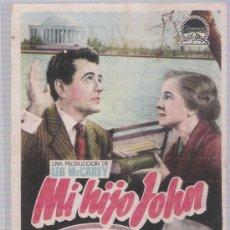 Cine: MI HIJO JOHN. SENCILLO DE PARAMOUNT. CINE VICTORIA.. Lote 23802252