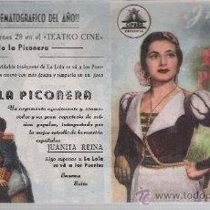 Cine: LOLA LA PICONERA. DOBLE DE CIFESA. TEATRO CINE.. Lote 23803677