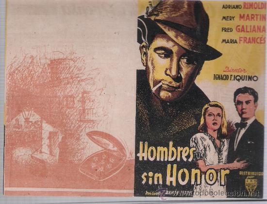 HOMBRES SIN HONOR. DOBLE DE RKO RADIO. (Cine - Folletos de Mano - Acción)