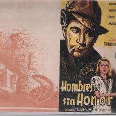 Cine: HOMBRES SIN HONOR. DOBLE DE RKO RADIO.. Lote 23803981