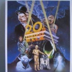 Flyers Publicitaires de films Anciens: FOLLETO DE MANO TARJETA DEL ESTRENO - CICLO 20TH FANTASY FOX STAR WARS PLANET APES MUMMY. Lote 24300727