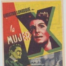 Cine: LA MUJER X. PROGRAMA SENCILLO. CINE IDEAL.. Lote 23858493