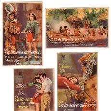 Cine: JORNADAS - 4 - EN LA SELVA DEL TERROR - PROGRAMA ORIGINAL SIN PUBLICIDAD -. Lote 26011006