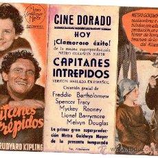 Cine: CAPITANES INTREPIDOS CINE IMPRESO TRIPTICO. Lote 26984017