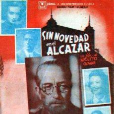 Cine: SIN NOVEDAD EN EL ALCAZAR CUADRUPLE CON CINE IMPRESO. Lote 27069635