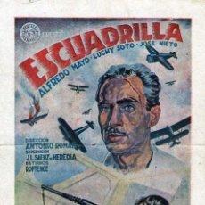 Cine: ESCUADRILLA PROGRAMA TARJETA CON CINE IMPRESO (CINE DORADO DE ZARAGOZA). Lote 27069637
