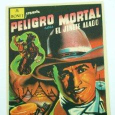 Cine: PELIGRO MORTAL SERIE EL JINETE ALADO PROGRAMA MANO TOM MIX CABALLO TONY SIN PUBLICIDAD. Lote 24090504