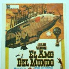 Cine: EL AMO DEL MUNDO PROGRAMA MANO VINCENT PRICE CHARLES BRONSON 1961 SIN PUBLICIDAD. Lote 24092310
