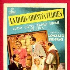 Cine: LA BODA DE QUINITA FLORES , SENCILLO , RARO , ORIGINAL, S1850. Lote 24154331