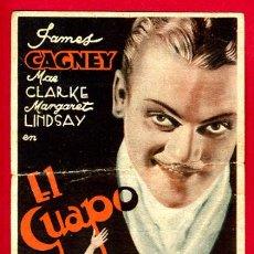 Cine: EL GUAPO 1935 , JAMES GAGNEY , TARJETA , ORIGINAL, S1854. Lote 24154481