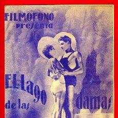 Cine: EL LAGO DE LAS DAMAS 1935 , FILMOFONO , DOBLE , ORIGINAL, S1869. Lote 24155029