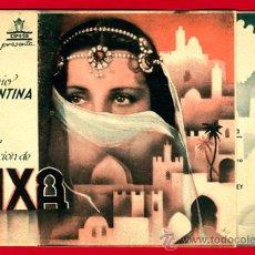 Cine: AIXA 1939 , IMPERIO ARGENTINA , DOBLE , ORIGINAL, S1874. Lote 24155908