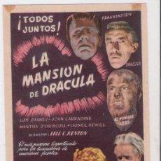 Cine: 122--LA MANSION DE DRACULA. Lote 26986931