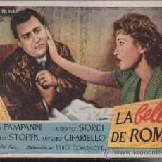 Cine: LA BELLA DE ROMA. SENCILLO DE REY SORIA FILMS.. Lote 178602612